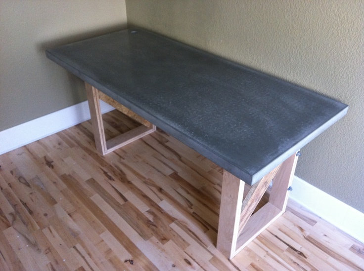 diy concrete desk 2
