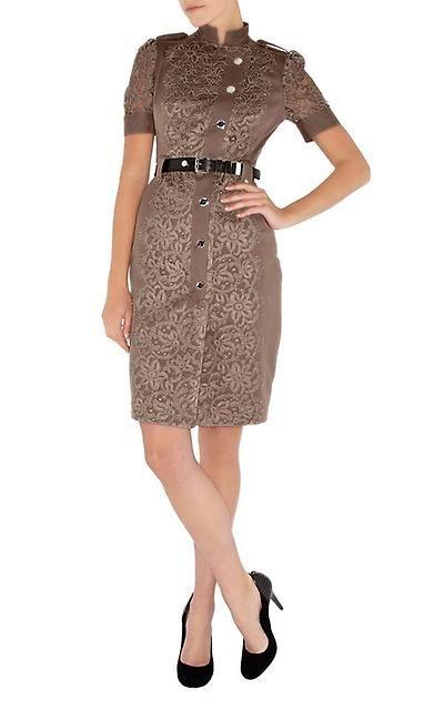 b5bc1073dbb7f5f Платье с кружевом коричневое Карен Миллен Karen Millen 16 разм - Основная  одежда во Владивостоке
