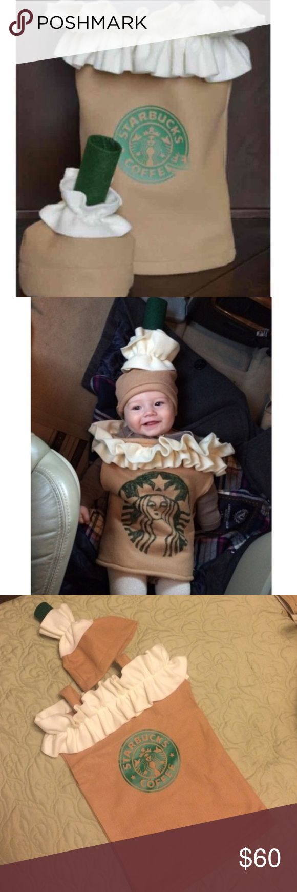 HPStarbucks frappe costume size 12-18 months Custom made Halloween costume for baby SIZE 12-18 months! Adorable Starbucks frappuccino costume people will be wowed!! Brand new! The first photo is exactly what you will get. HOST PICK- everything kids party- 8/31/16 Costumes Halloween