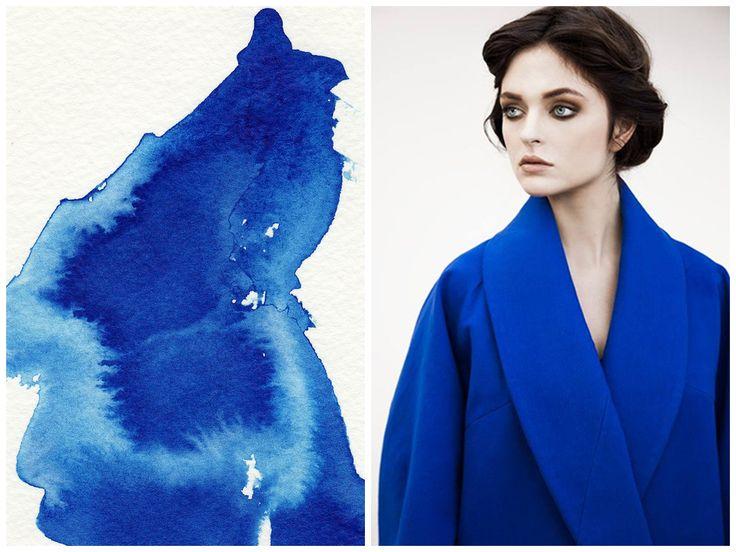 Inspiration behind Elena Ciuprina Spring 2015 collection.Watercolor.