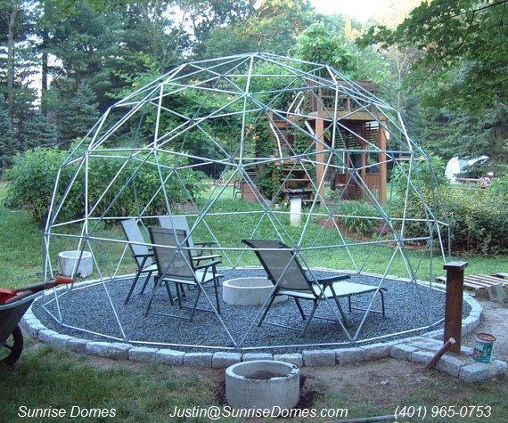 16 Ft Geodesic Dome Garden Trellis Over 9 Ft High