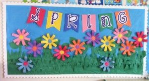 Spring, flower bulletin board | Crafts and Worksheets for Preschool,Toddler and Kindergarten