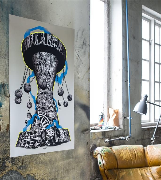 IKEA ART EVENT 2015 poster CHF 9.95 Motif created by Mariusz Waras aka Mcity. Double-sided adhesive tape for mounting the picture to the wall is included. Paper. W70×H100cm. 802.887.62