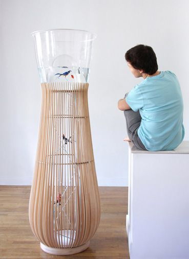 """Birdcage  Aquarium """"Duplex"""" by Constance Guisset (another DIY as its price tag is apparently over $10k)"""