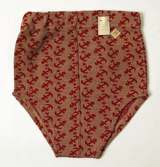 1940s wool swimtrunksAnchors Prints, Wool Swimtrunk, Wool Trunks, Red Anchors, 1940 1950, 1940S Wool, Vintage Swimwear, But Vintage, Men Wool