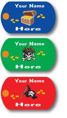 Custom Mini-Metal Tags - Ahoy Ye Matey