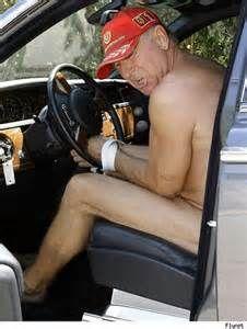 Frédéric Prinz von Anhalt naked & handcuffed to his Rolls Royce - Hate When That Happens.