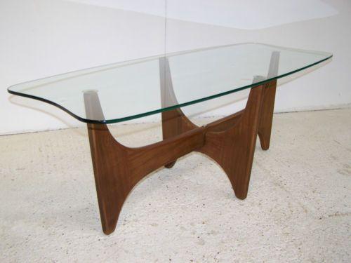 vintage retro mid century teak glass coffee table astro gplan 50s