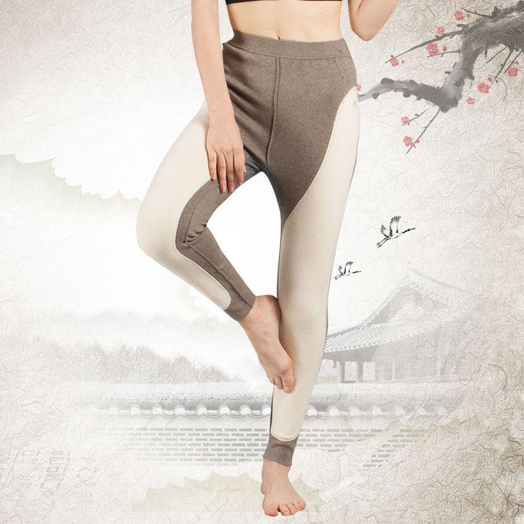Seda de mora de Mantener Caliente Engrosamiento Lana Prestación Pañal Leggings Cordero Abajo Tejer Mujer Calzoncillos Largos Mantenga la ropa interior Caliente 1-1517