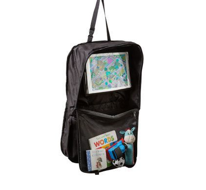 Isi Mini Autostoel Organiser & Tablet Houder - DE GELE FLAMINGO - 1