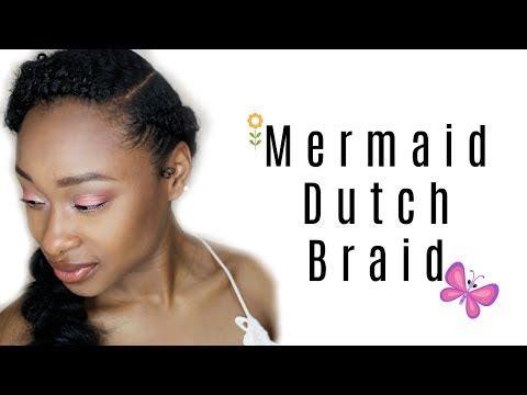 (3) Back to School: DIY Mermaid Dutch Braid Tutorial - YouTube