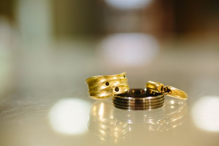 Our rings. Mine designed by RA Designer Jewellery in Manchester and Mackay & Pearson in Horbury.