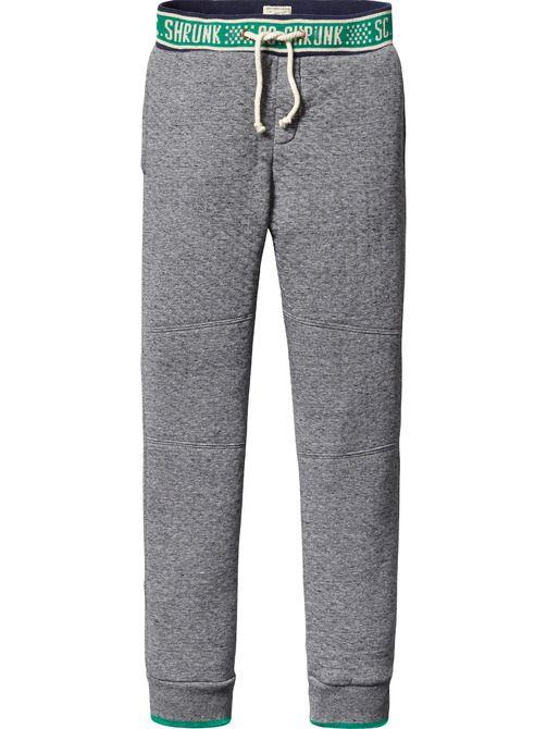 Pantaloni della tuta in tessuto doppio