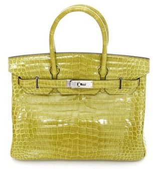 Birkin leather handbag with two handles- Love the color of this!!!