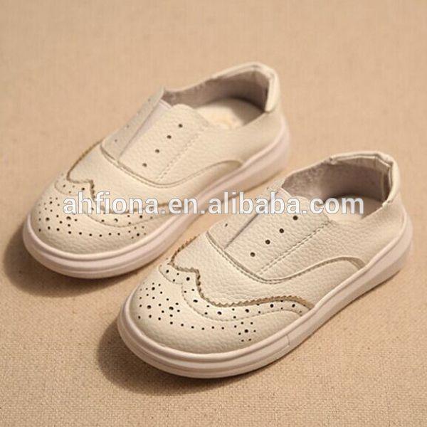 F10071E Erkek ve kız hakiki deri ayakkabı yeni sonbahar tasarım çocuk casual düz ayakkabı