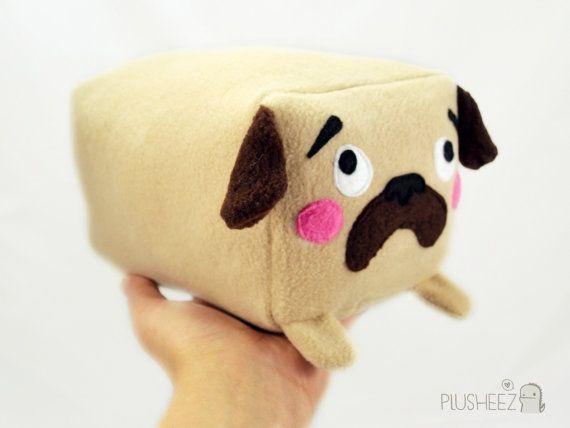 78da84e3957 PUG cube plushie kawaii soft toy pillow cushion novelty home decor dog love  animal plusheez