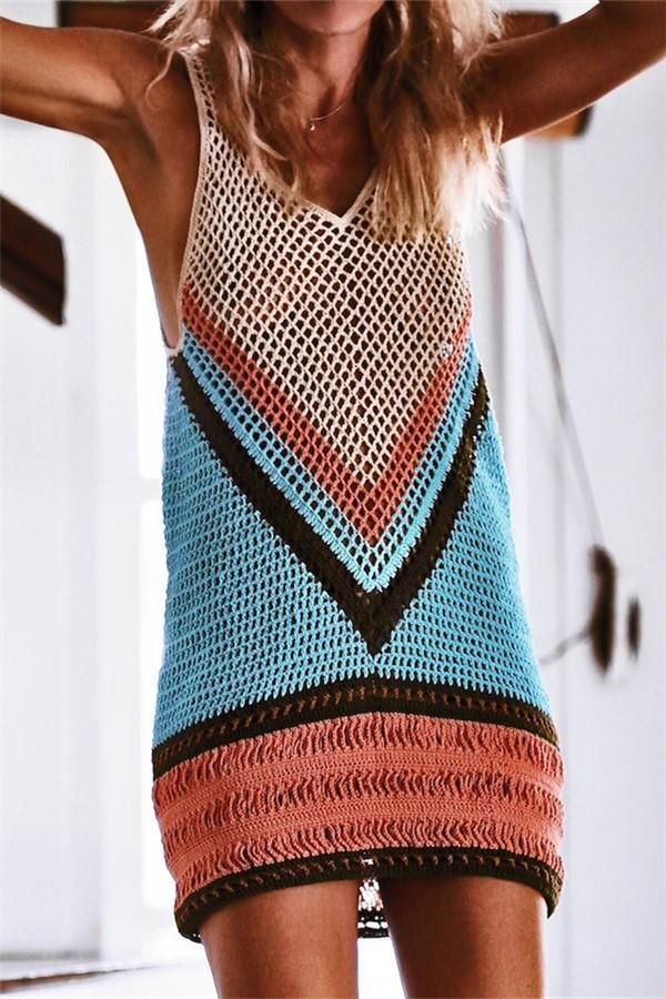 f4963c9c888 Vacation Sandbeach Blouse Bikini Sexy Strip Knitted Sweater Vest  – sweaters cardigans winter sweateroutfits sweaterdress