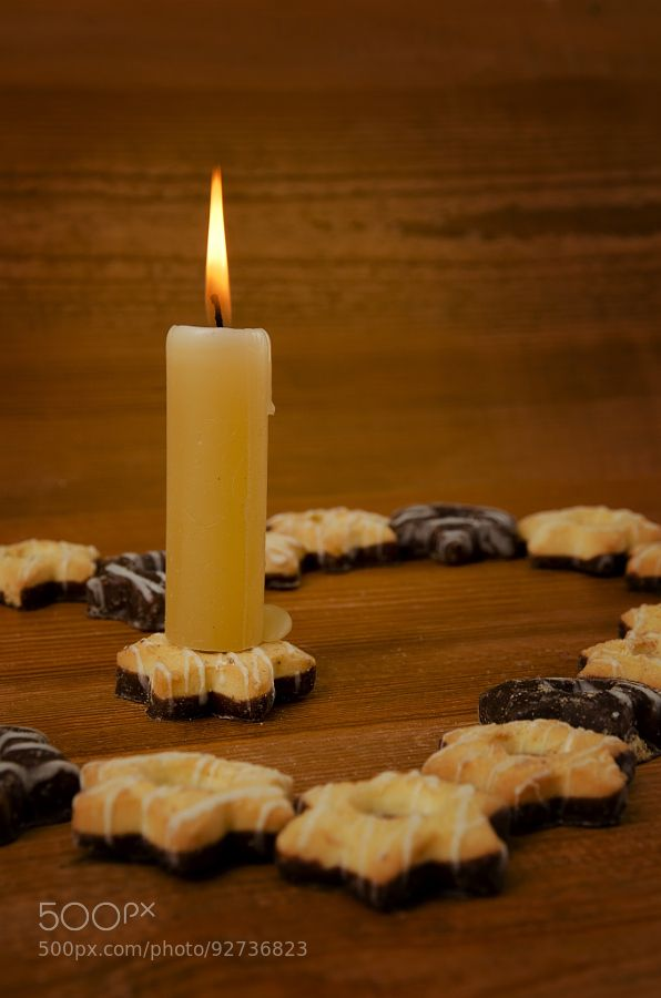 Candle and cookies. by mercava2007