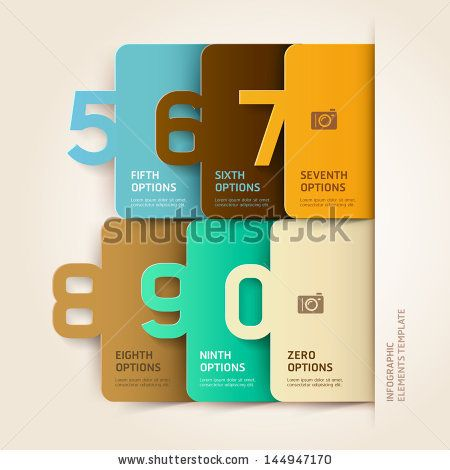 Modern infographics number options template. Vector illustration. can be used for workflow layout, diagram, business step options, banner, w...