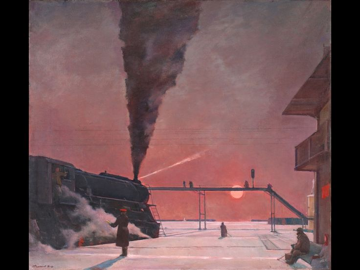 Georgy G. Nissky, En route, 1934