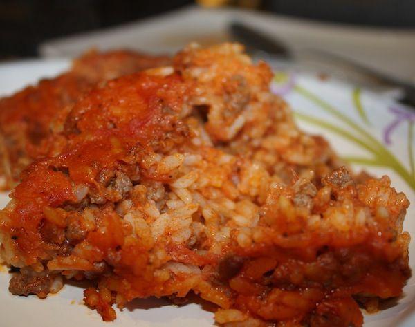 Ross fil-forn (Maltese baked rice)