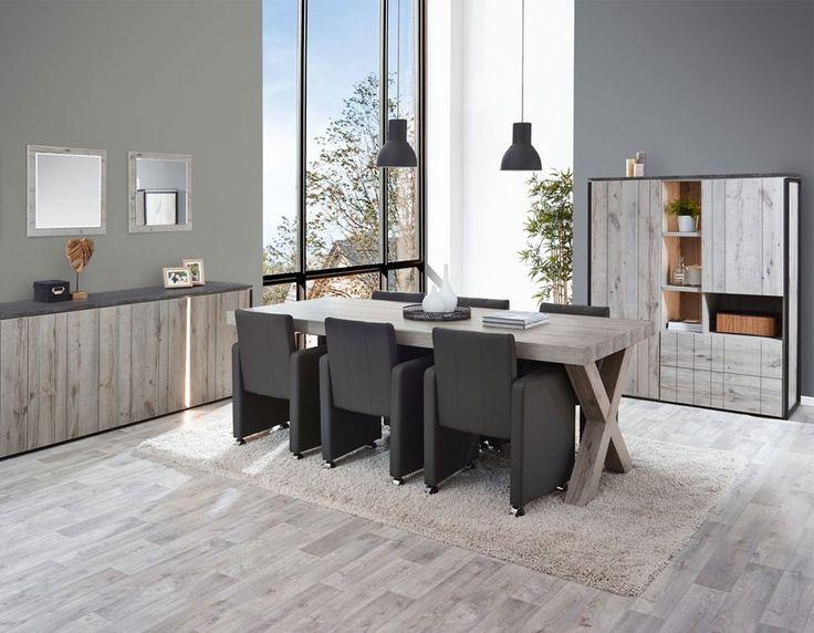 salle manger industrielle couleur chne gris et marbre nera 3 - Salle A Manger En Marbre