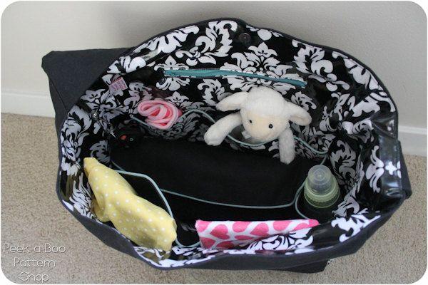 Does it All Diaper Bag Diaper Bag Pattern by PeekabooPatternShop, $7.95