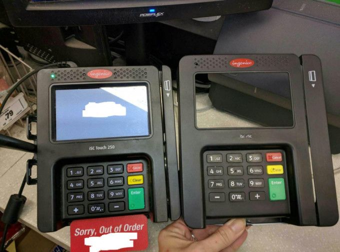New skimmers fit right on top of chip and PIN credit card scanners