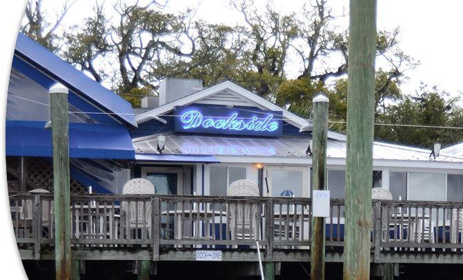 dockside waterfront restaurant bar and marina