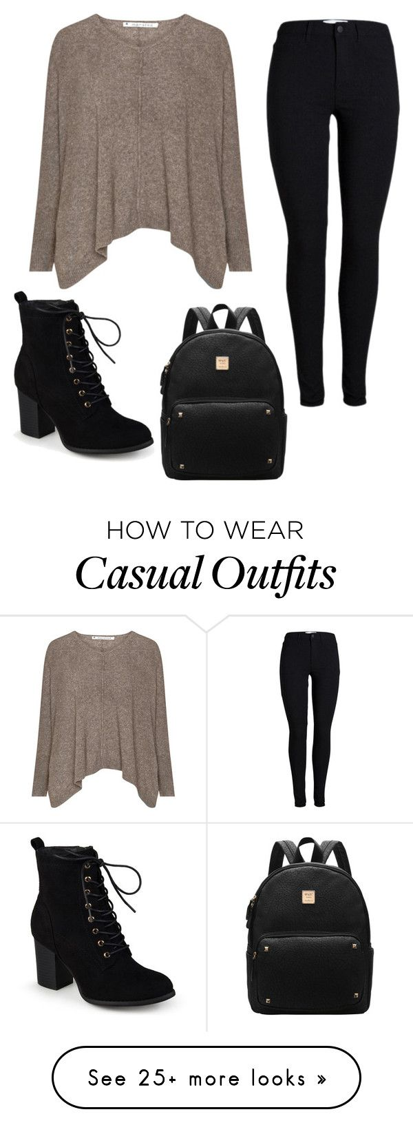 """""""Dark Casual"""" by expsy on Polyvore featuring Journee Collection"""
