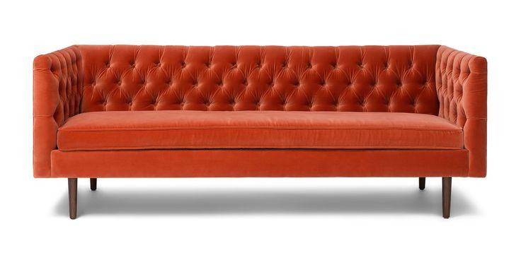 Chester Persimmon Orange Sofa