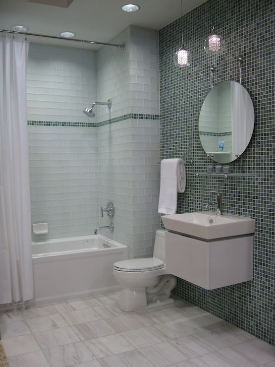 Kirsty Froelich: The Tile Shop   Kirsty Froelich   Glass Bathroom With  Marble Floor  Modern White Vanity .