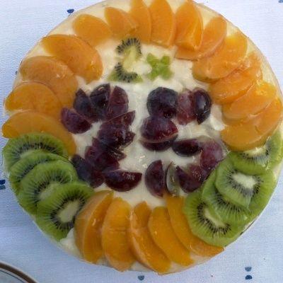 Bezlepkový pudingovo-ovocný lehký dort
