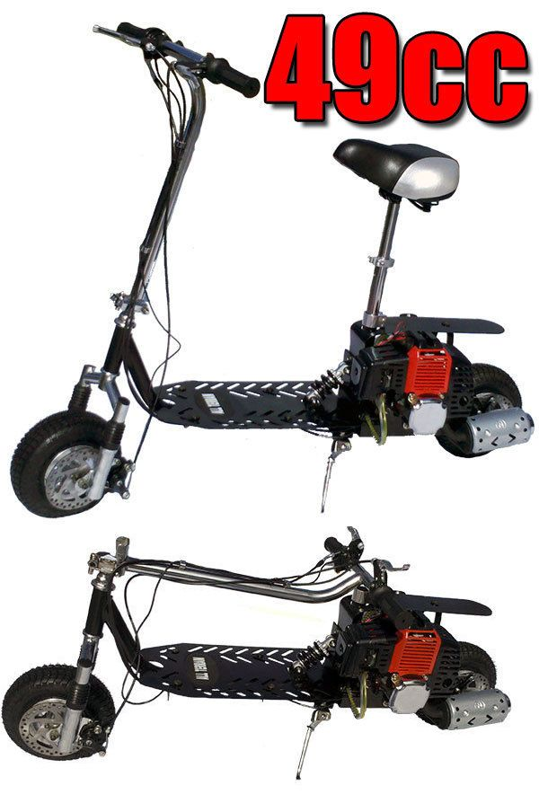 Gas Scooters 75211: Brand New 2017 Fast 49Cc 2-Stroke Gas Motor Scooter BUY IT NOW ONLY: $335.0