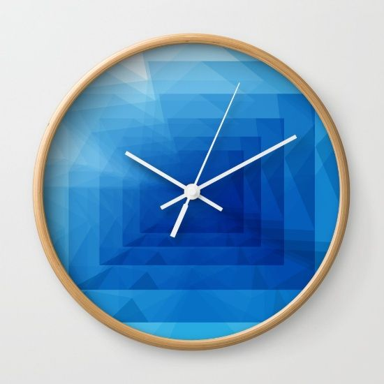 Abstract Blue Geometric Droste Effect