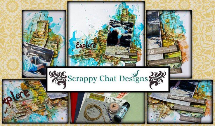 Scrappy Chat Designs - Kit Release - Explore Kit http://www.scrappychatdesigns.blogspot.com.au