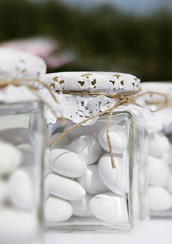 Santorini Wedding favors | View the full gallery here:http://www.tietheknotsantorini.com/santorini-wedding-favors