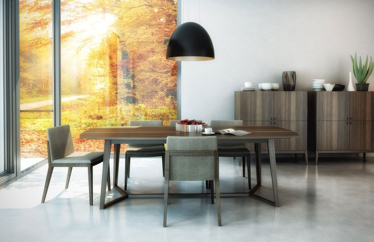 Moment Collection by Huppe. Get this fabulous Canadian made dining table in rectangle or round ! Visit http://www.portfoliointeriors.ca/brand/huppe to find out more about this product or visit our showroom at 1216B Battle Street, Kamloops, BC !