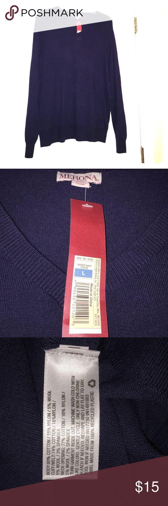 MERONA-- NEW Men's V-neck sweater MERONA-- NEW Men's V-neck sweater. Navy blue. Merona Sweaters V-Neck
