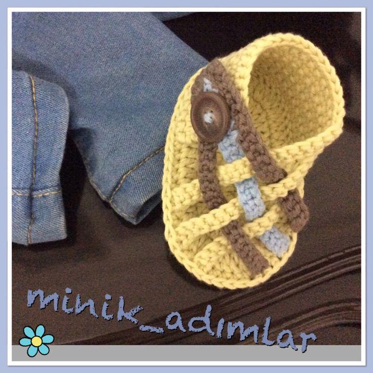 Patiklerim.... #babysandals #crochet #bebeksandaleti