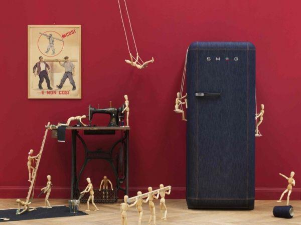 Ретро-холодильник в интерьере кухни