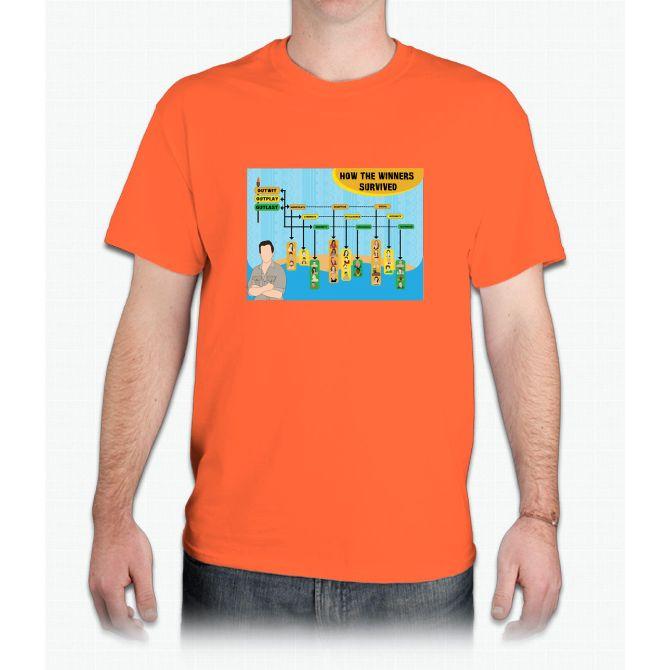Survivor Winners Infographic - Mens T-Shirt