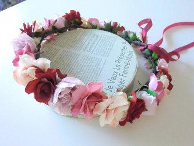 レッド×ピンク系花冠 エニーブライダル