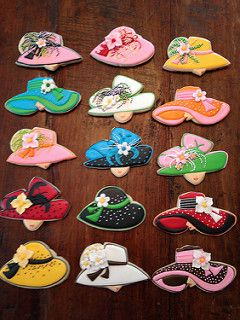 Kentucky Derby Hat Cookies Cookies by Bo