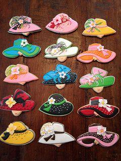 Kentucky Derby Hat Cookies Cookies by Bo