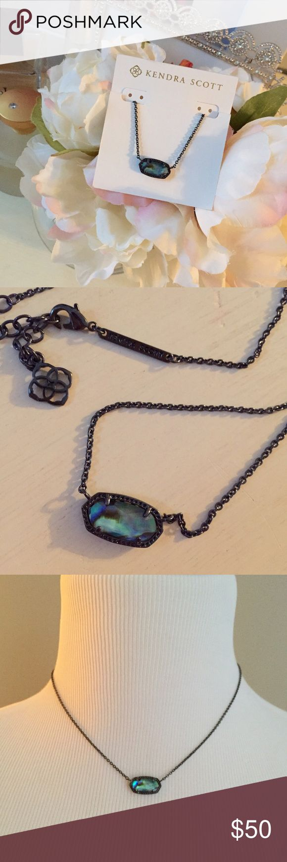Kendra Scott Elisa necklace Gorgeous necklace by Kendra Scott is brand new and never worn. Stone is a colored mirror glass on a gunmetal chain. Kendra Scott Jewelry Necklaces