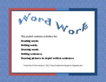 Free 22 page reading and writing packetChristina Aronen, Long Vowels, Vocabulary Development, Shorts Vowels, Words Work, Free 22, Development Packets, Word Work, Work Packets