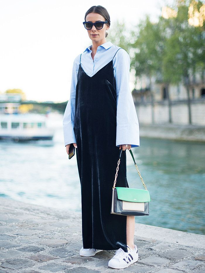 9+Chic+Maxi+Dresses+to+Wear+for+Autumn+via+@WhoWhatWearUK
