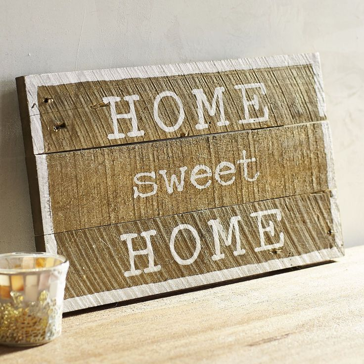 Home Sweet Home Planked Wall Decor 866