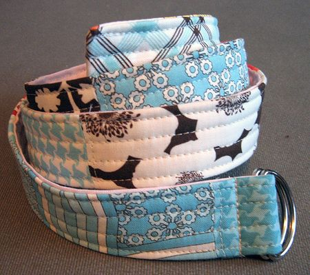 Made belts before this looks like a neat one to try.  patch work belt tutorial - made with fat quarters